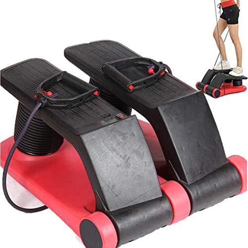 VOVIJ Sunny Health, 2in1 Aerobic Fitness Schritt 5 Geschwindigkeiten Maximale Belastung 120kg Fitness-Oberschenkel-Maschine FÜR Home Office Outdoor Trave