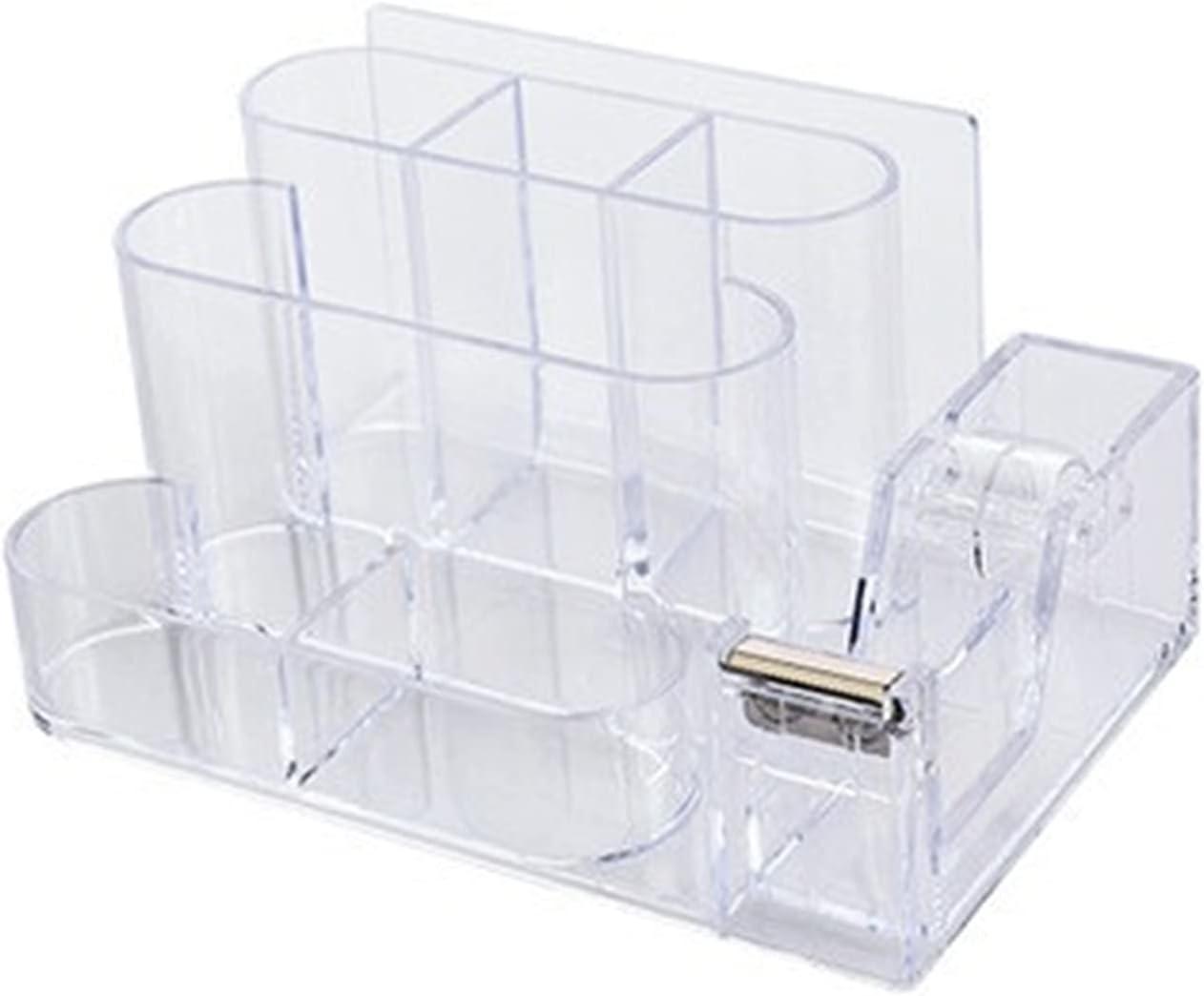 Recommendation Multifunction Transparent Pen Holder Square unisex Pencil Bo