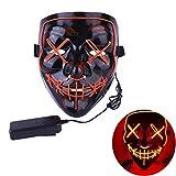 URMAGIC LED Halloween Maske, Leuchtet im Dunkeln Aufhellen Masken Cosplay Kostüm für Halloween Christmas Party