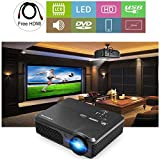 "HD LCD 1080P Video Projectors 4400 Lumen with HDMI USB 200"" Display Multimedia"