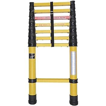 AA-SS-Ladder Escalera de extensión de Fibra de Vidrio Escaleras telescópicas Ligeras, Altas y no conductivas, Resistentes y con protección para los Dedos, 2m-5m (Tamaño: 5M): Amazon.es: Hogar