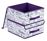 homyfort Set de 2 Cajas de Almacenaje Cubos de Tela Organizador Plegable con...