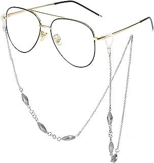 Sopaila Womens Elegant Perals Metal Necklace Eyeglass Chain Holder Sunglasses Strap Cords
