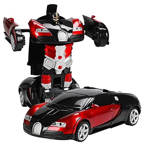 CaCaCook Coche Teledirigido Robot, Transformers Toys 2 en 1,Transformador RC de Juguete de Control Remoto para niños de 3 a 12 años,1:18, Regalo para niños, niñas, Vacaciones de Navidad, año Nuevo