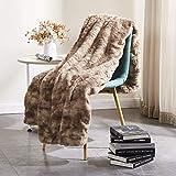 "Rose Home Fashion RHF Faux Fur Throw Blankets, Gothic Decor, Fuzzy Blanket, Soft Blanket, Throw Blanket for Couch, Plush Blanket, Fur Blanket, Fluffy Blanket, (Chocolate, Twin60"" x 80"")"