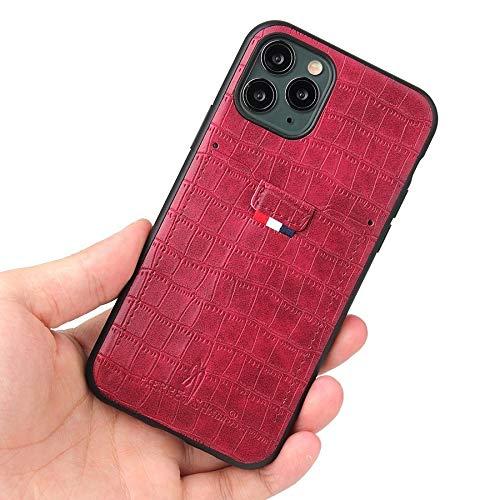 RZL Teléfono móvil Fundas para iPhone 12 Pro MAX 12 Mini, Funda Trasera de Cuero de Grano de cocodrilo con Ranura para Tarjeta Caja clásica para iPhone 11 Pro MAX