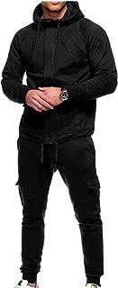 Maweisong Men's Zipper Hoodie Pants Sets Tracksuit Jogging Sweatsuit Activewear