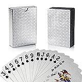 Weekend&Lifecan baraja Cartas Poker plastico, de Cartas Poker, Juego de Poker, baraja de Cartas Poker, Juego de Cartas, Cartas Poke (siliver)