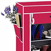 Biaba Collection Best & Fancy Fabric Shoe Rack Organizer, 4 Layers, Pink(Color As Per Availability)
