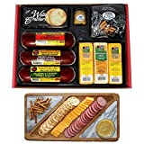 WISCONSIN'S BEST and WISCONSIN CHEESE COMPANY, Party Gift Basket - Summer Sausages, 100% Wisconsin Cheeses, Crackers, Pretzels & Mustard, Birthday Gifts. SHIPS in 1-2 Days, Delivers within 7 Days