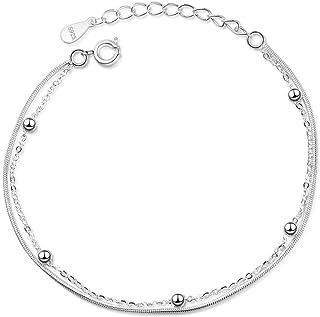 POA Bracelet for Women Tennis Adjustable Snake Bone Beaded Bracelet Retro Bangle Ladies Charm Fashion Simple Sparkly Beaut...
