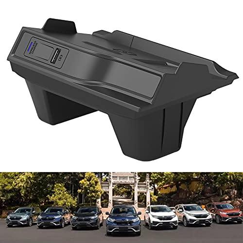 Cargador de Coche Inalámbrico para Accesorios Honda para (2017-2019) CR-V / CRV Todos los Modelos, Cargador de Teléfono de Carga Rápida de 15 W con USB QC3.0 para iPhone 12 MAX Mini 11 / XS MAX / XR