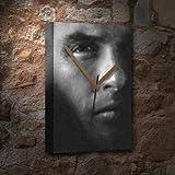 H720 (4 SEASONS) WARREN BEATTY - Canvas Clock (A4 - Signed by the Artist) #js002