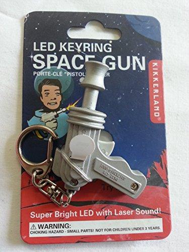 Kikkerland KRL28TC Space Gun LED Keychain with Sound