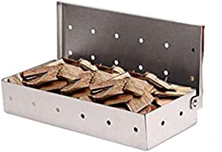 Stainless Steel Smoke Box, Easy Clean BBQ Smoker Box for Smoking Chips and Wood Smokers-BBQ Accessories, Barbecue Utensils...