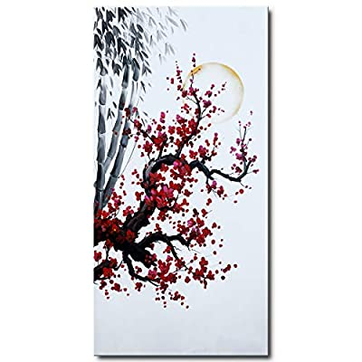 Hand Painted Plum Blossom Wall Art Flower Oil Painting on Canvas from Seekland Art