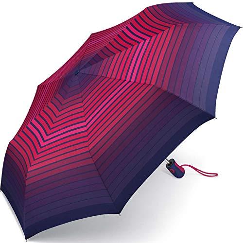Esprit Taschenschirm Easymatic Light Gradient Stripes - Purple