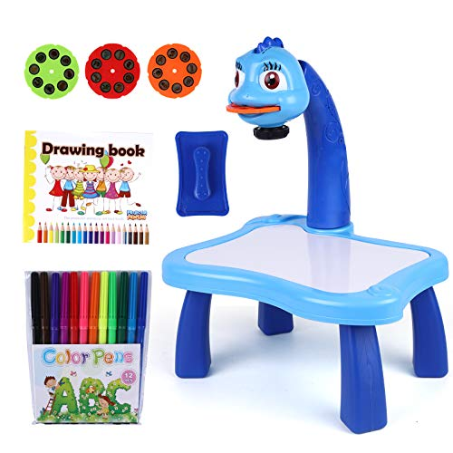 MEIJIABA Trace and Drawing Art Projector Toy for Kids, Slides with Discs for Tracing Lakeshore Learning(Blue)