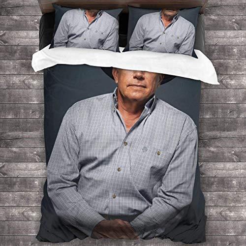 N \ A George Strait - Juego de funda de edredón (1 funda de edredón y 2 fundas de almohada), 3 piezas, 218,4 x 70 cm