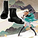 【Ayshone JP】Fate/Grand Order FGO フェイト グランドオーダー 桜セイバー 沖田総司 おきた そうじ 風 コスプレ靴 コスプレブーツ (男性25cm)