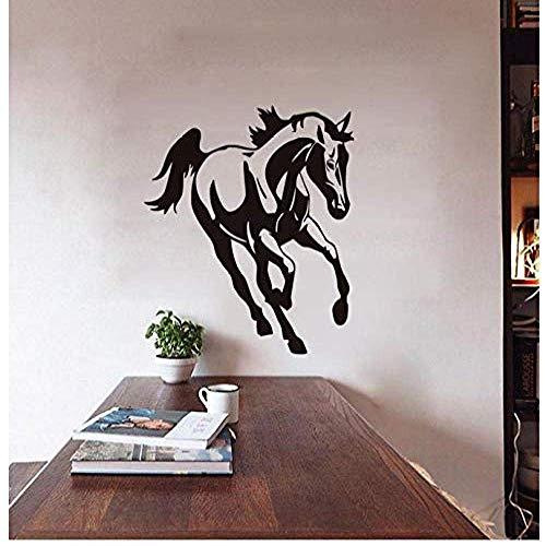 Muursticker Running Horse Kerststicker PVC Vinyl woonkamer slaapkamer Home raam badkamer kantoor slaapkamer winkel Decor 59x69cm