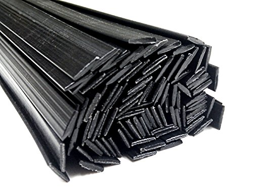Alambre de soldadura de plástico PP 8x2mm Plano Negro 25 barra