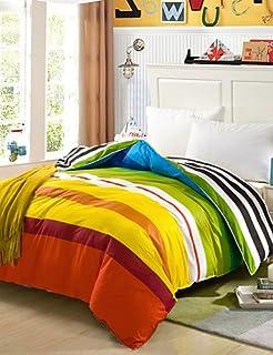 kiuytghnb 100% algodón Reina funda nórdica comfortble para cama individual o doble tamaño Colcha matrimonio