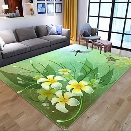 Nordic 3D Flowers Butterflies Print Teppiche, Cartoon Animal Kids Spielmatte, Wohnzimmer Langlebiger rutschfester Teppich60 * 90Cm