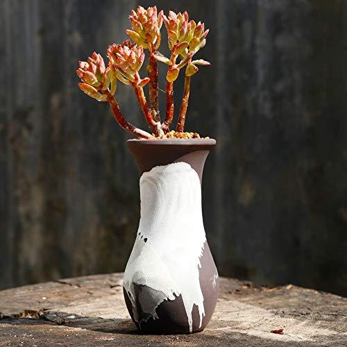 Kouintl Simple Respirante Céramique Petite Fleur Pot Succulent Grand Place Vieille Pile Grand Pot Maison Grand Calibre Succulent Plant Creative Clay Pot (Color : A)