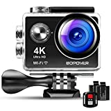 4K Action Camera, Bopower 60fps WiFi Sport Anti-Shake Waterproof...