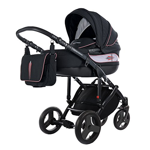 knorr-baby 37888-6 Kombikinderwagen Sportime, schwarz