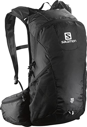 Salomon L37997600, Zaino da Corsa Running 10 l Trail 10 Unisex – Adulto, Nero