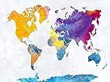 USDFYU Puzzles Madera Rompecabezas 1000 Piezas,Colorido Mapa del Mundo Geológico...