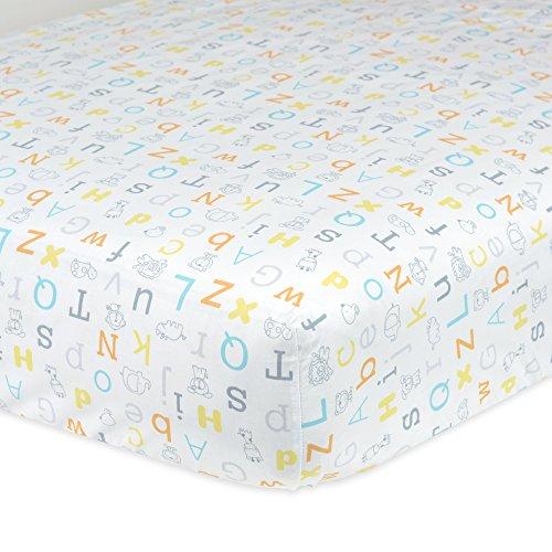 Gerber 100% Cotton Fitted Crib Sheet, Alphabet