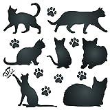 Katze Silhouette Schablone,–wiederverwendbar Tier Freund-Tiere–Vorlage, auf Papier Projekte Scrapbook Bullet Tagebuch Wände Böden Stoff Möbel Glas Holz usw. m