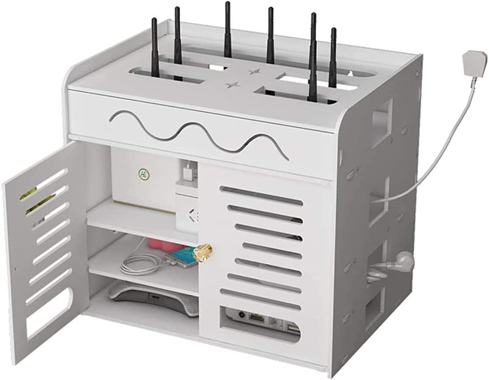 Max 53% OFF XU FENG Multi Functional WiFi Storage to Cover Box New products world's highest quality popular Shelf Router