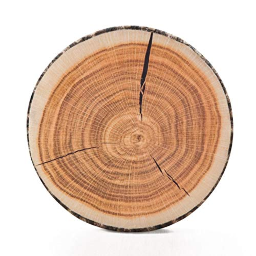 HYSEAS Decorative Round Throw Pillow, 3D Digital Print Comfortable Kids Funny Cute Wood Log Pillow Circle Seating Floor Cushion for Home, Couch, Sofa, Bedroom, Living Room Decor, Stump