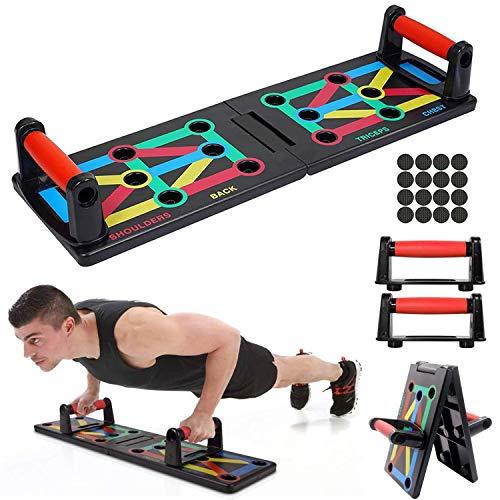 Tumax Push Up Rack Board 12 en 1, Marco de Entrenamiento portátil Push-up, Tabla De Flexiones para Entrenamientos