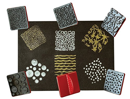 READY 2 LEARN Paint Effect Stamps - Set of 6 - Art Tools for Kids - Dots, Squiggly Lines, Stars, Waves, Bubbles, Polka Dots - Patterns for Backgrounds, Borders and DIY Projects, Multi, 2 3/8 in x 2 3/8 in, Model: CE6652