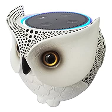 Owl Statue Crafted Guard Station for Amazon Echo Dot 2nd and 1st - BFF For Alexa