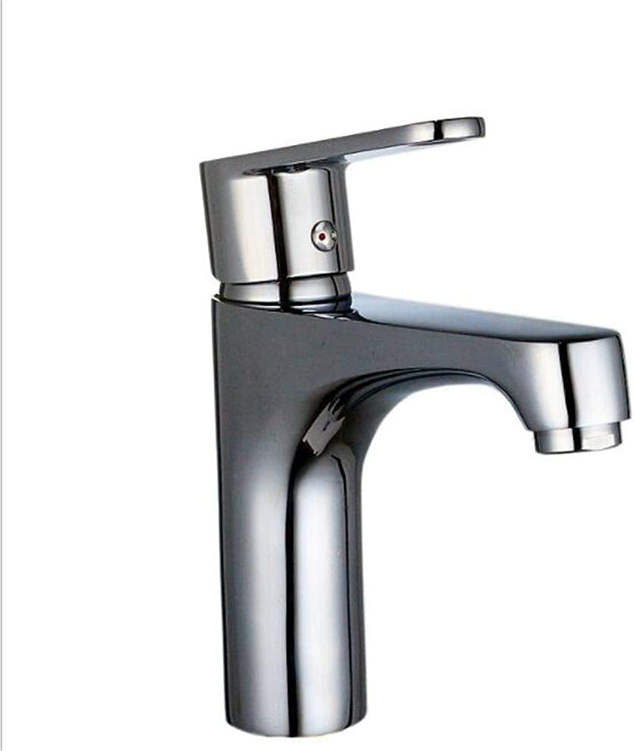 Bathroom Sink Basin Lever Mixer Tap Copper Hot and Cold Washbasin Faucet