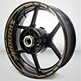 Matte Gold Motorcycle Rim Wheel Decal Accessory Sticker For BMW S1000RR