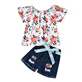 Comie ropa de bebé, ropa para niña, pijama de algodón, pantalón de peto, traje de juego, ropa de bebé, ropa de noche, capucha, conjunto, traje de punto azul claro 100 cm