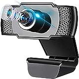 Aibeau Webcam Full HD 1080P mit Mikrofon und PC-Kamera USB 2.0 Plug & Play für Laptop, Computer, PC, für YouTube, Skype Online Study, Videoanrufe, Live-Streaming-Konferenzen