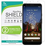 (2-Pack) RinoGear Screen Protector for Google Pixel 3a Case Friendly Google Pixel 3a Screen Protector Accessory Full Coverage Clear Film