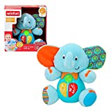 winfun - Peluche Elefante para bebés que habla y luces de colores,...
