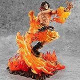 GUANGHHAO One Piece Portgas · D · Ace Figura de acción 25cm-20th Anniversary Fire Fist Ace-Figurine Decoración Adornos Coleccionables Juguete Animaciones Modelo de Personaje