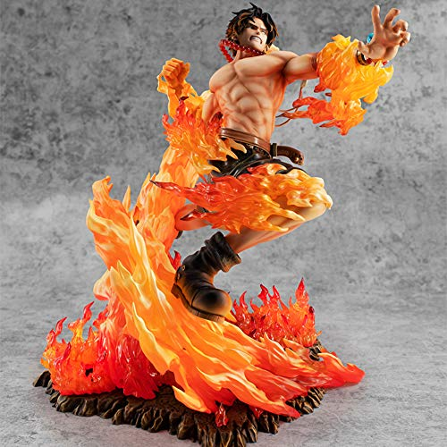 GUANGHHAO One Piece Portgas·D· Ace Figurine 25cm-20e Anniversaire Fire Fist Ace-Figurine Décoration Ornements Collectibles Jouet Animations Modèle de Personnage