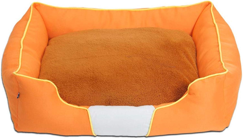Pet Backpack Kennel Washable Washable Oxford Cloth Wear Resistant Double Bite Available Cushion  Large Medium orange48 62 75 98cm Beds (Size   75CM)