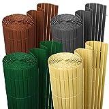 wolketon Canniccio di PVC/Incannucciata di Plastica Imitazione canne di bambù/frangivista Recinzione Giardino/UV-Resistente, Lavabile/Grigio 160x900cm